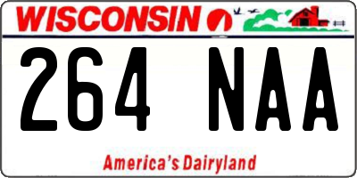 WI license plate 264NAA