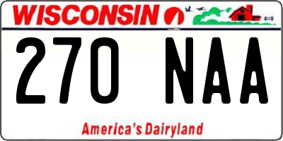 WI license plate 270NAA