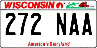WI license plate 272NAA