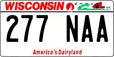 WI license plate 277NAA