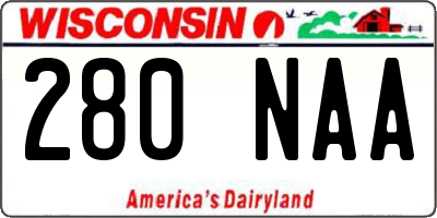 WI license plate 280NAA