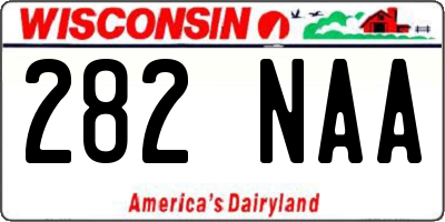 WI license plate 282NAA