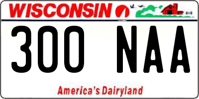 WI license plate 300NAA