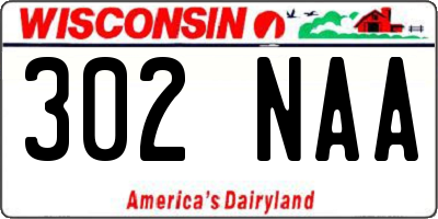 WI license plate 302NAA