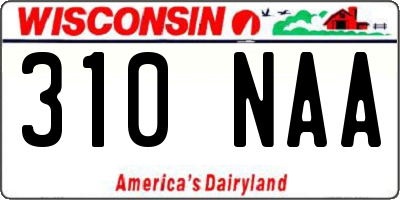 WI license plate 310NAA