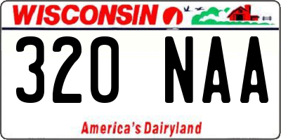 WI license plate 320NAA