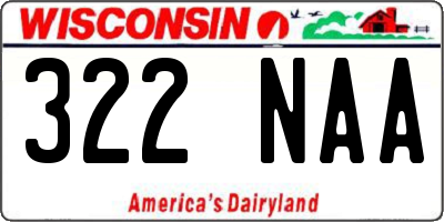 WI license plate 322NAA
