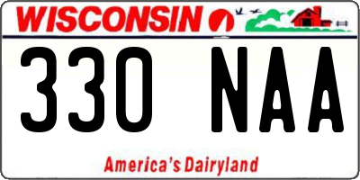 WI license plate 330NAA