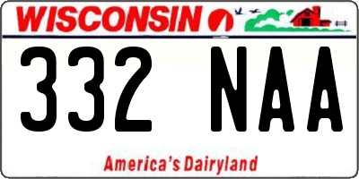 WI license plate 332NAA