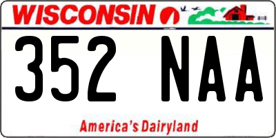 WI license plate 352NAA