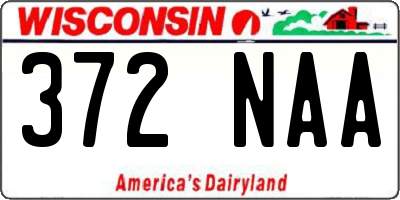 WI license plate 372NAA