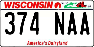 WI license plate 374NAA