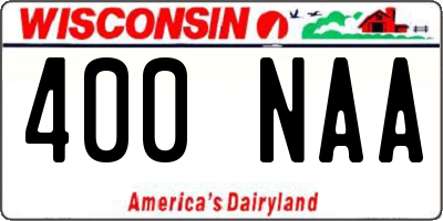 WI license plate 400NAA