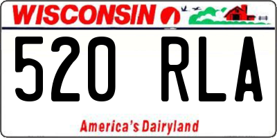 WI license plate 520RLA