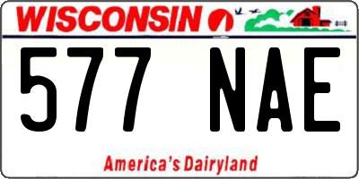 WI license plate 577NAE