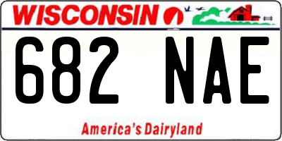 WI license plate 682NAE