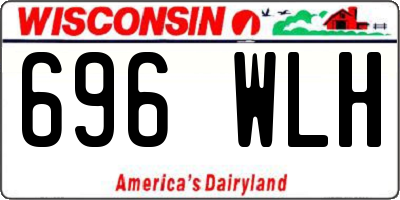 WI license plate 696WLH