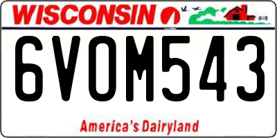 WI license plate 6VOM543