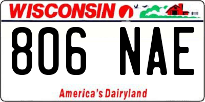 WI license plate 806NAE