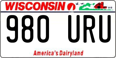 WI license plate 980URU
