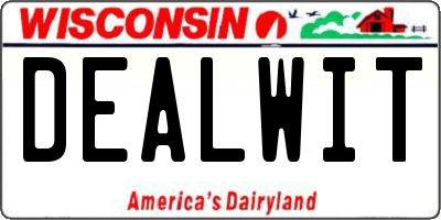 WI license plate DEALWIT