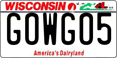 WI license plate GOWGO5