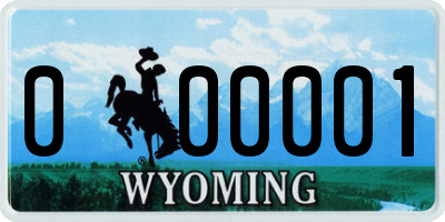WY license plate 000001