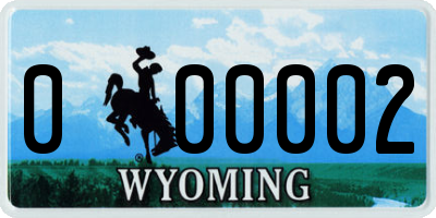 WY license plate 000002