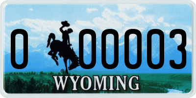 WY license plate 000003