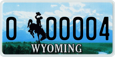 WY license plate 000004