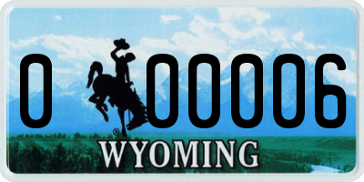 WY license plate 000006