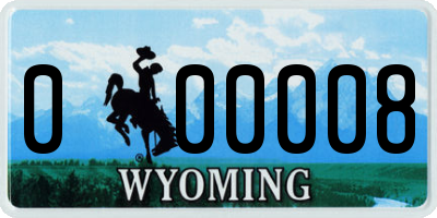 WY license plate 000008