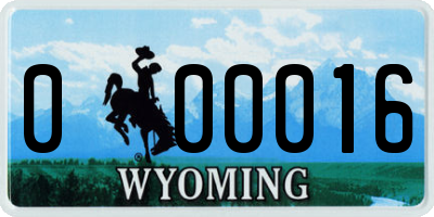 WY license plate 000016