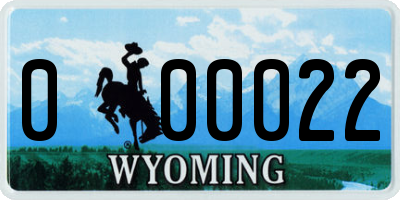 WY license plate 000022