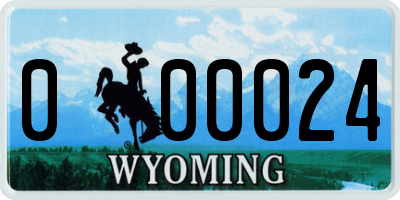 WY license plate 000024