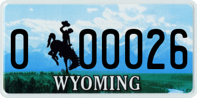WY license plate 000026