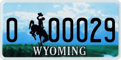 WY license plate 000029