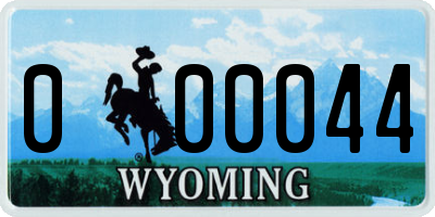 WY license plate 000044