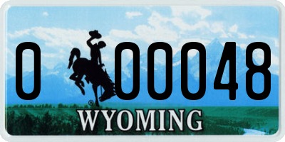 WY license plate 000048