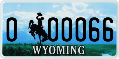 WY license plate 000066