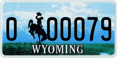 WY license plate 000079