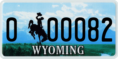WY license plate 000082