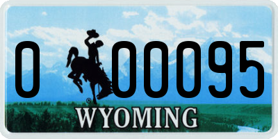 WY license plate 000095