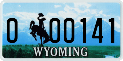 WY license plate 000141