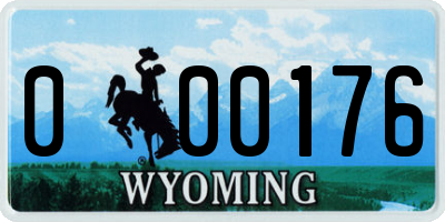WY license plate 000176