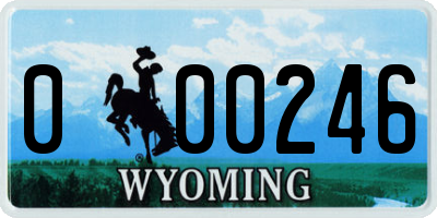 WY license plate 000246