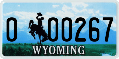 WY license plate 000267