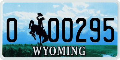 WY license plate 000295