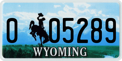 WY license plate 005289