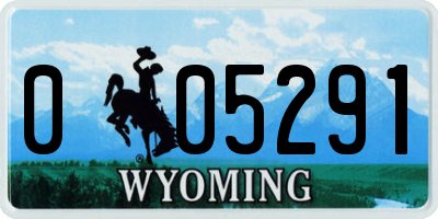 WY license plate 005291